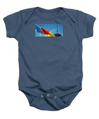 Redondo Beach Flags Baby Onesie
