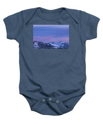 Striped Sky At Day's End Baby Onesie