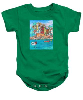 Boats In Front Of The Buildings X Baby Onesie