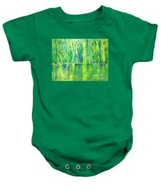 Serenity In Green Baby Onesie