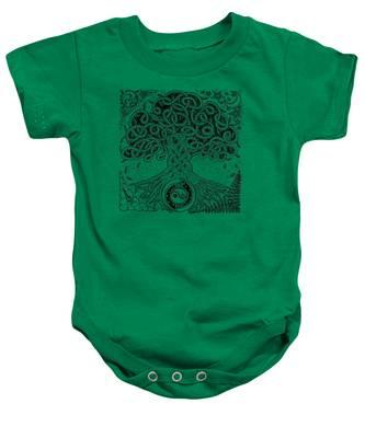 Circle Celtic Tree Of Life Inked Baby Onesie