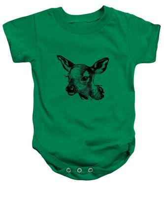 Deer On Burlap Baby Onesie