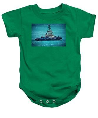 Salvage Tug Boat Baby Onesie