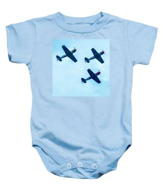 Action In The Sky During An Airshow Baby Onesie