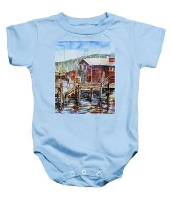 At Monterey Wharf Ca Baby Onesie