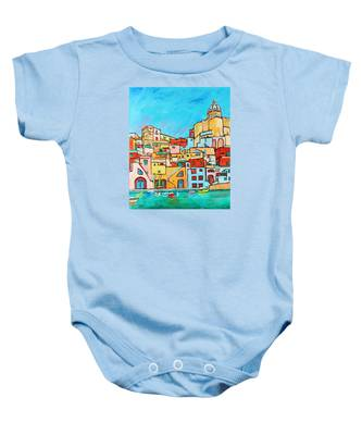 Boats In Front Of The Buildings Vii Baby Onesie