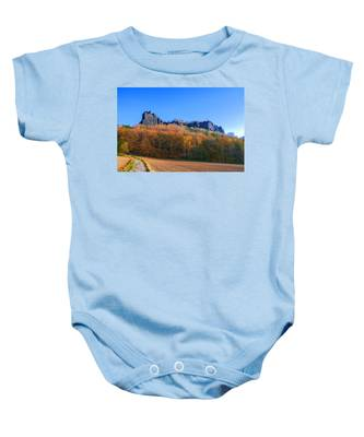 Fall Colors Around The Lilienstein Baby Onesie