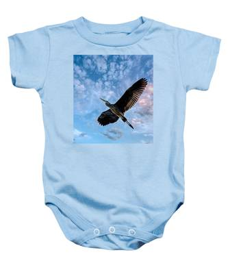 Flight Of The Heron Baby Onesie