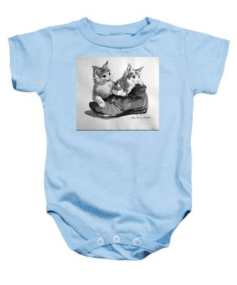 Playful Kittens Baby Onesie