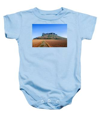 The Lilienstein On An Autumn Morning Baby Onesie