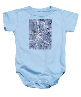 Houston Texas City Street Map Baby Onesie
