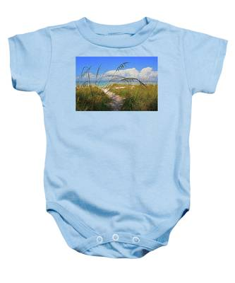 A Day At The Beach Baby Onesie