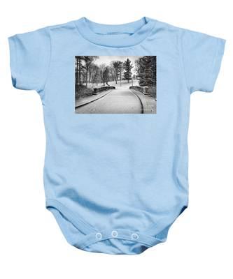 A Walk In The Snow Baby Onesie
