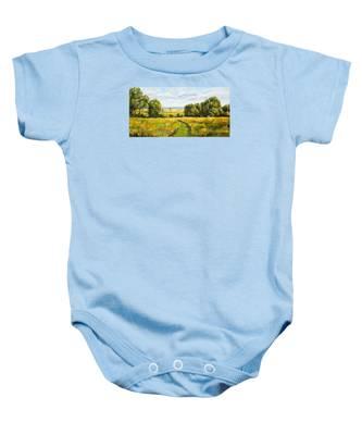 A Walk Thru The Fields Baby Onesie