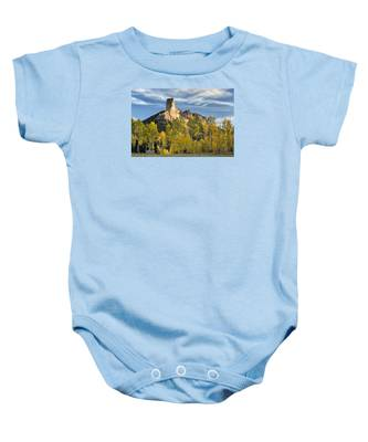 Before Sunset At Chimney Rock Baby Onesie