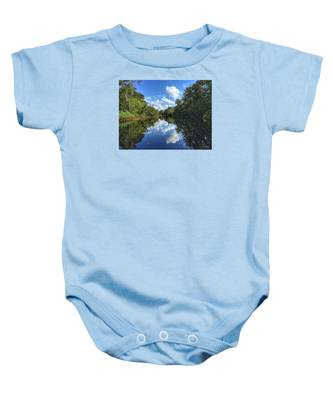 Blue Cloud Reflections  Baby Onesie