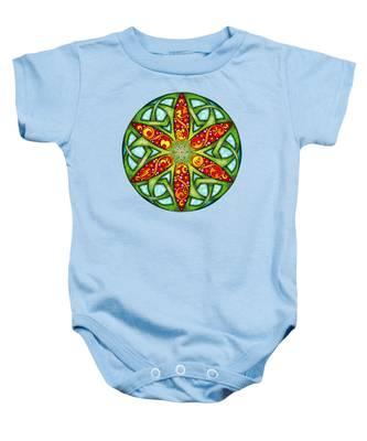 Celtic Summer Mandala Baby Onesie