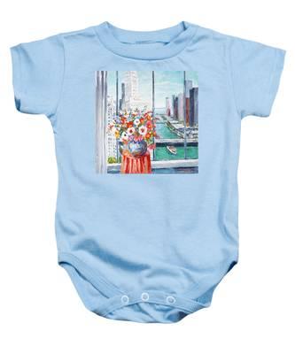 Chicago River Baby Onesie