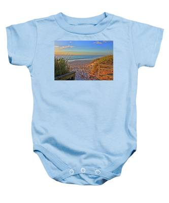 Coquina Beach By H H Photography Of Florida  Baby Onesie