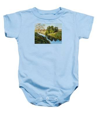 Illinois Countryside  Baby Onesie