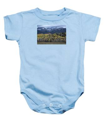Last Light On Autumn Aspens Baby Onesie