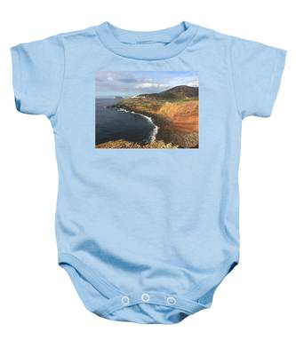 Lighthouse On The Coast Of Terceira Baby Onesie