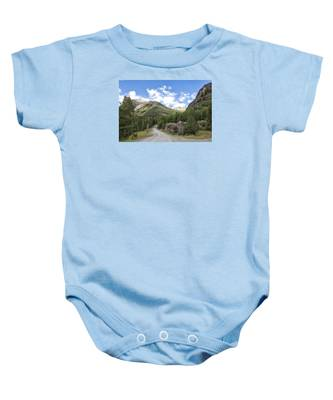 Mountain Crossroads Baby Onesie