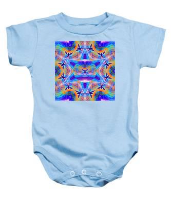 Mystic Universe Kk 15 Baby Onesie by Derek Gedney