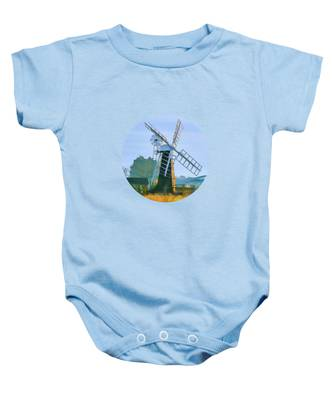 Priory Windmill Baby Onesie
