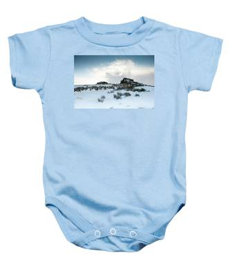 South Hessary Tor In The Snow II Baby Onesie