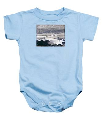 Stormy Sea Baby Onesie