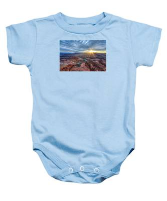 Sunburst At Dead Horse Point Baby Onesie