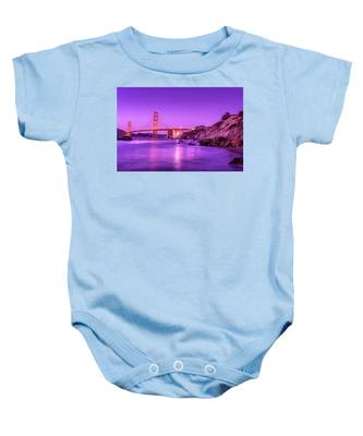 Golden Gate Bridge At Night Baby Onesie