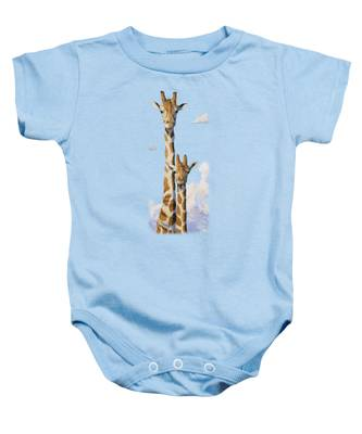 Two Heads In The Clouds Baby Onesie