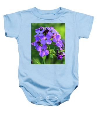 Purple Flower Baby Onesie