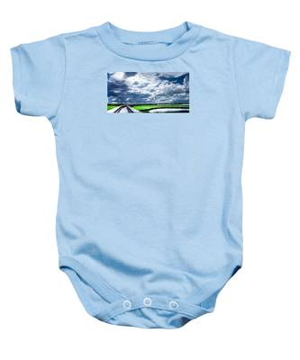Walk With Me In The Sky Baby Onesie
