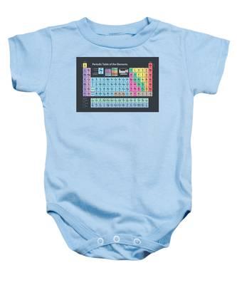 Periodic Table Of Elements Baby Onesie