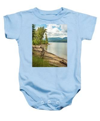Beach Driftwood Baby Onesie