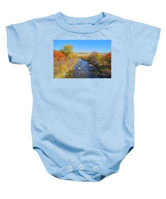 Fall Foliage In Idaho Baby Onesie by Dart and Suze Humeston