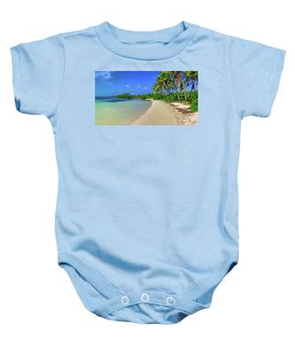 Living On An Island Baby Onesie