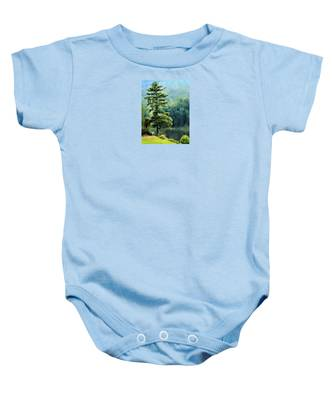 Two Guys And A Pond Baby Onesie