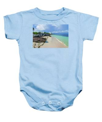 White Sandy Beach Of Cancun Baby Onesie