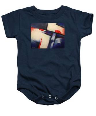 Abstract Red Blue Baby Onesie