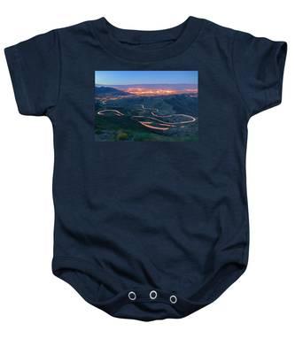 Highway 74 Palm Desert Ca Vista Point Light Painting Baby Onesie