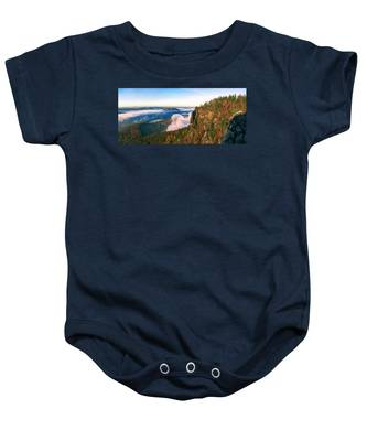 Mist Flow Around The Fortress Koenigstein Baby Onesie