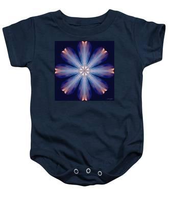 Baby Onesie featuring the digital art Nature's Mandala 54 by Derek Gedney
