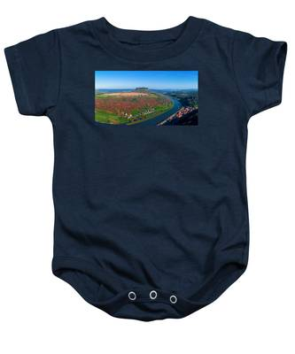 The Elbe Around The Lilienstein Baby Onesie