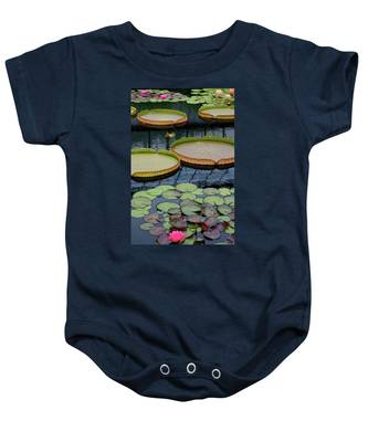 Waterlilies And Platters 2 Baby Onesie