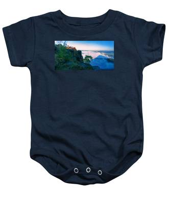 White Wafts Of Mist Around The Lilienstein Baby Onesie