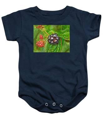 Wild Blackberries Baby Onesie
